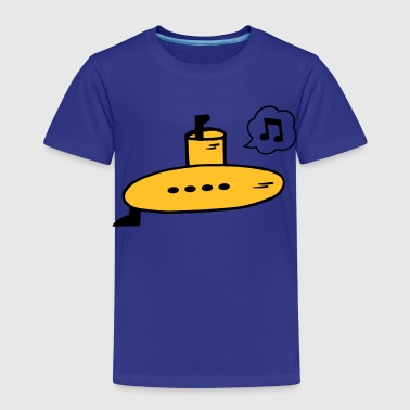 Singing Yellow Submarine - Premium-T-shirt barn