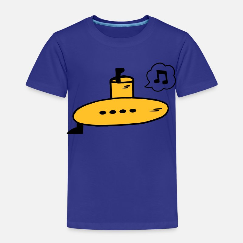 Yellow Submarine T-Shirts - Singing Yellow Submarine - Kinderen premium T-shirt koningsblauw