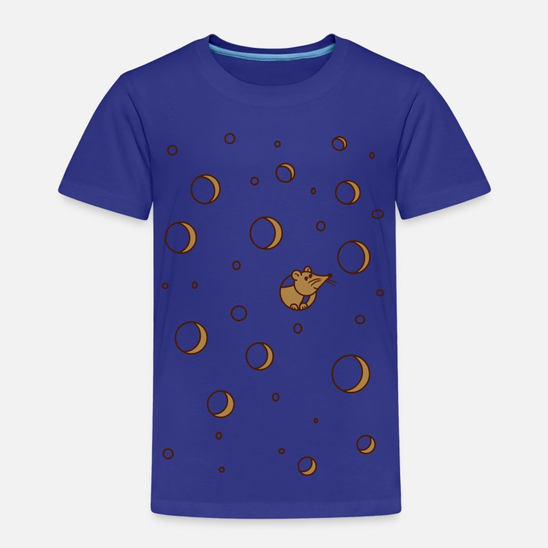 Bestsellers Q4 2018 T-Shirts - maus im käse - cheese mouse - Kids' Premium T-Shirt royal blue