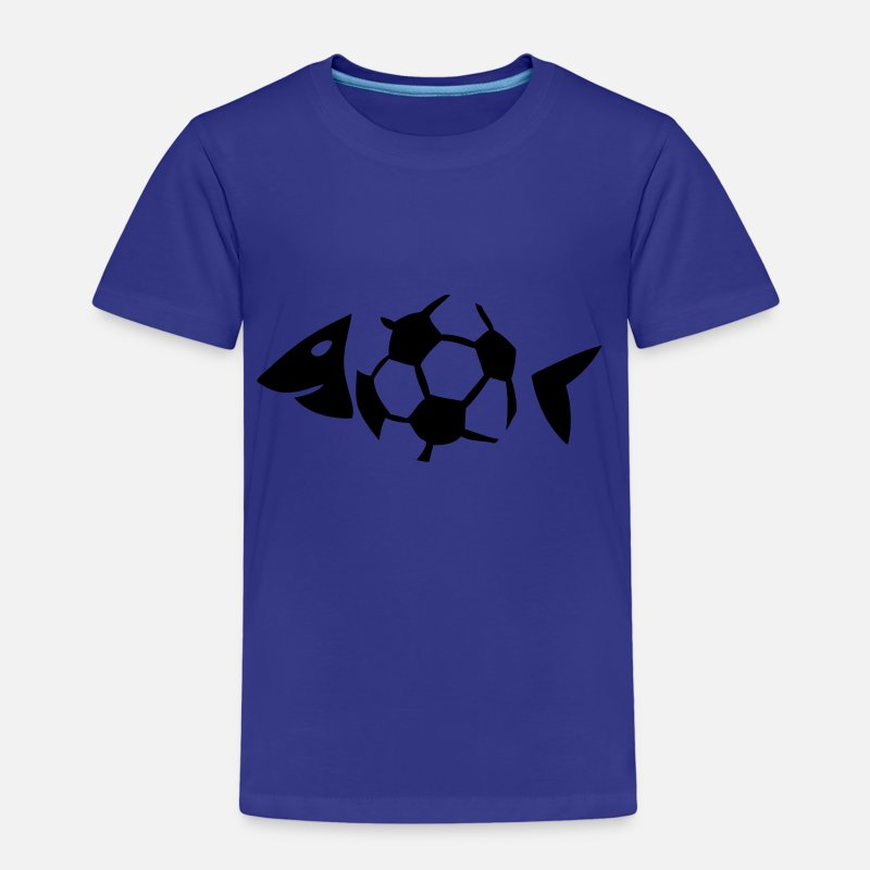 Ballon T-shirts - foot soccer arete poisson fish ballon - T-shirt premium Enfant bleu roi