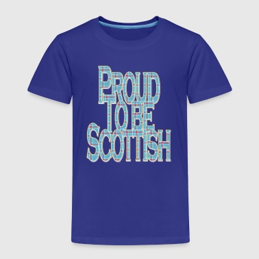 Proud to Be Scottish_blue pink tartan - Kids' Premium T-Shirt