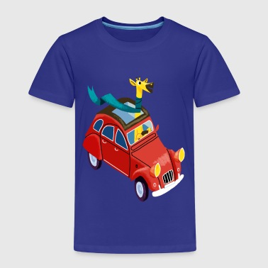 Giraffe in the car - Premium T-skjorte for barn
