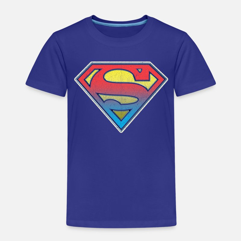 Superman T-shirts - DC Comics Originals Superman Logo Dégradé - T-shirt premium Enfant bleu roi