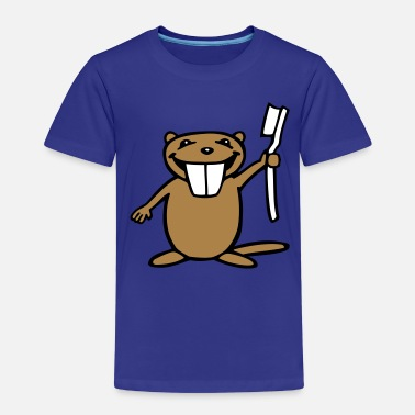 Biber Cartoon Biber - Kinder Premium T-Shirt