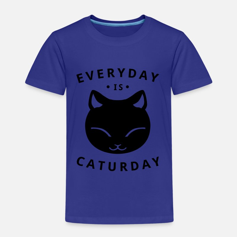 Humour T-shirts - Everyday is caturday - T-shirt premium Enfant bleu roi