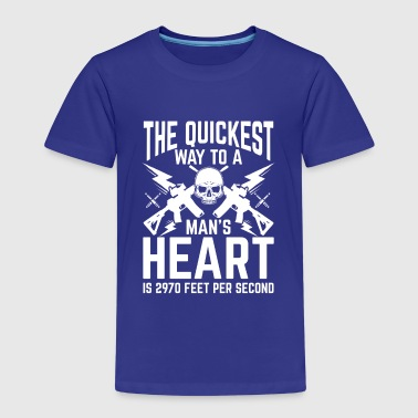 The quickest way to a man's Heart - Kinderen Premium T-shirt