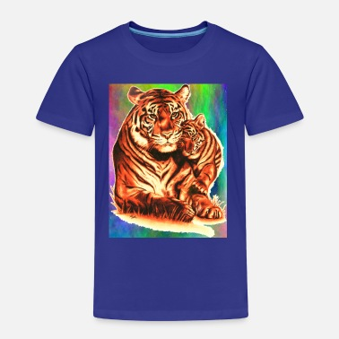 Cub Tiger and Cub - Kids' Premium T-Shirt