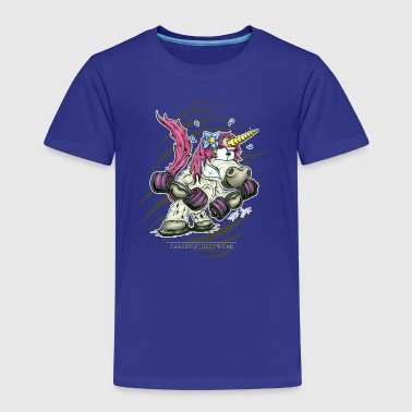 Train like a unicorn - Kinderen Premium T-shirt