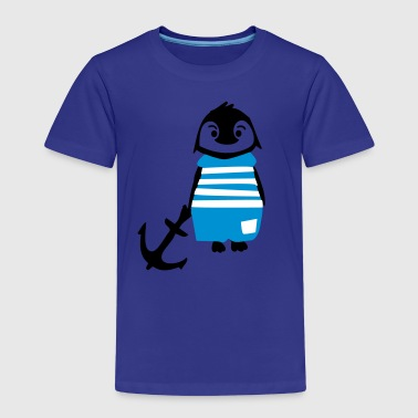 South pole penguin & anchor - Kids' Premium T-Shirt