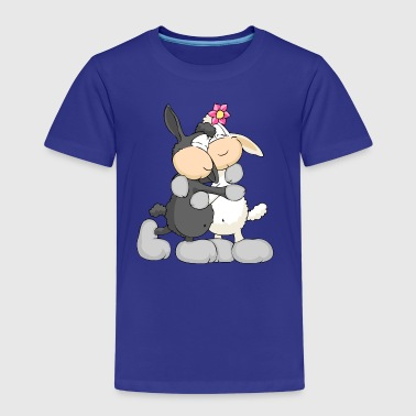Sheep Hugging - Kinderen Premium T-shirt