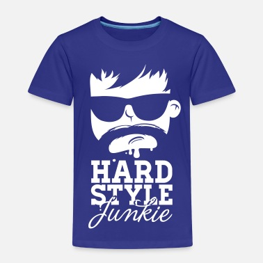 Hardstyle i love hardstyle dubstep moustache dance music - Kinderen Premium T-shirt