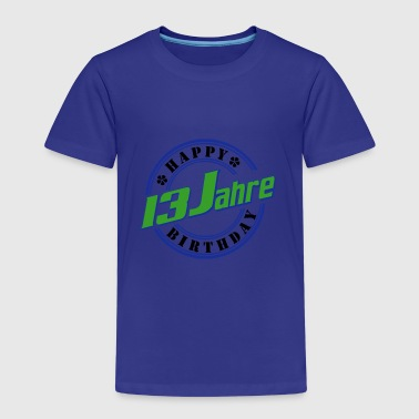 13 Happy Birthday Farbe - Kinder Premium T-Shirt