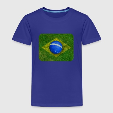 Brazil flag football design - Kids' Premium T-Shirt