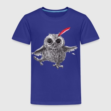 ugle - Chief Red - Happy Owl - Premium T-skjorte for barn