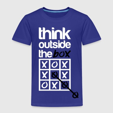 Think outside the box - Lasten premium t-paita