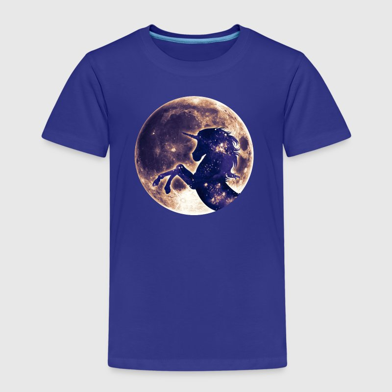 Unicorn full moon, galaxy, space, horse, fantasy - Kids' Premium T-Shirt