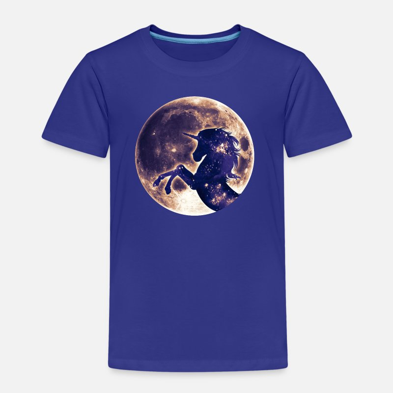 Fairy T-Shirts - Unicorn full moon, galaxy, space, horse, fantasy - Kids' Premium T-Shirt royal blue