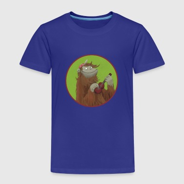 Monkey with ukulele - Kids' Premium T-Shirt