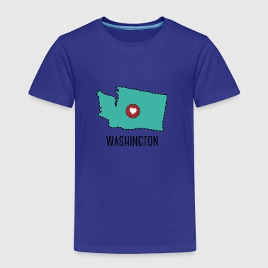 Washington State Herz - Premium-T-shirt barn