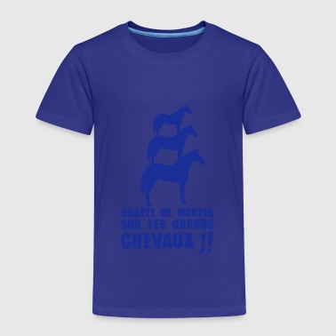 arrete monter grands chevaux expression - T-shirt Premium Enfant