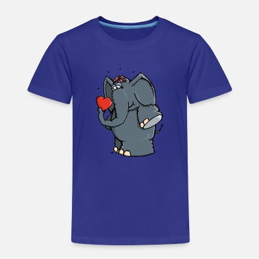 Elephant The elephant is in love T-Shirts - Kids' Premium T-Shirt