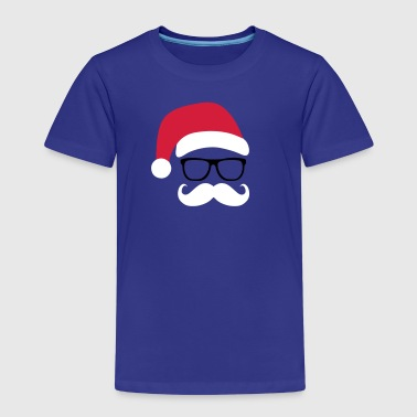 Funny Santa Claus with nerd glasses and mustache - Kids' Premium T-Shirt