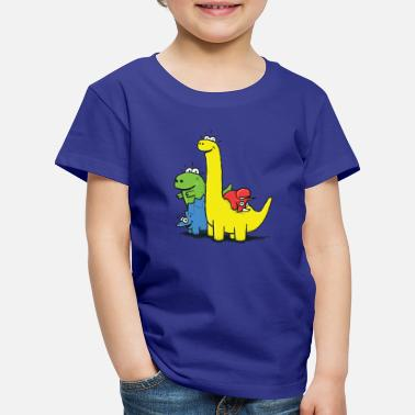 Collections Dino Gang, Colored - Premium-T-shirt barn