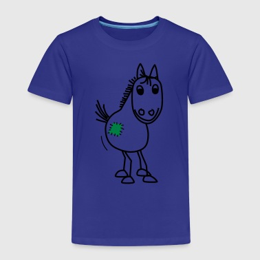Pony mit Flicken - Kinder Premium T-Shirt