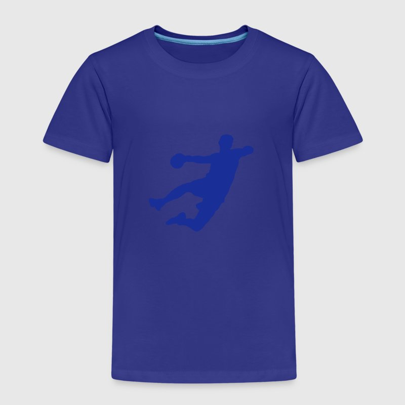 Handball shooting player silhouette sport logo - Kids' Premium T-Shirt