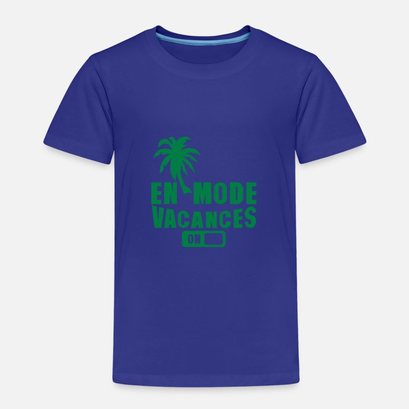 Mode T-shirts - en mode vacance palmier on - T-shirt premium Enfant bleu roi