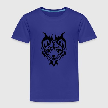 tribal tattoo wolf wildes tier - Kinder Premium T-Shirt