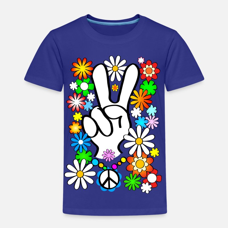 Flower Power Magliette - Flower Power & Peace - Maglietta premium per bambini blue royal