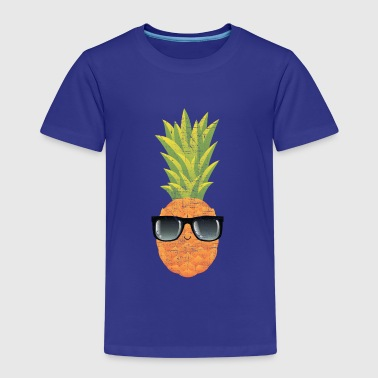 Pineapple With Sunglasses | Cool Illustration - Kinder Premium T-Shirt
