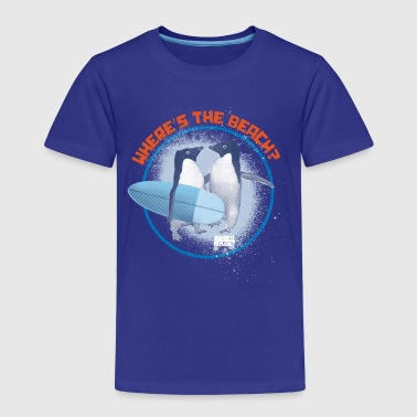 Animal Planet Pinguine Where's the beach? - Kinder Premium T-Shirt