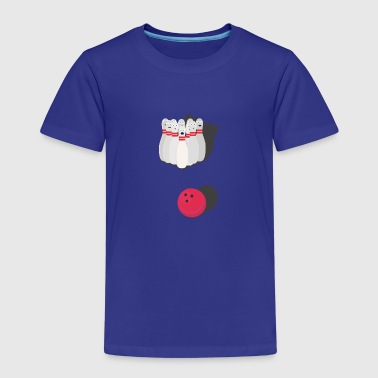 Bowling with bowling ball - Kids' Premium T-Shirt