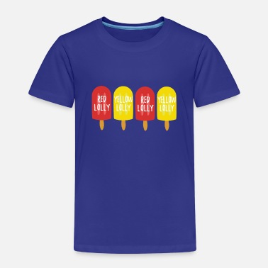 Fab Lolly red lolly yellow lolly - Kids' Premium T-Shirt