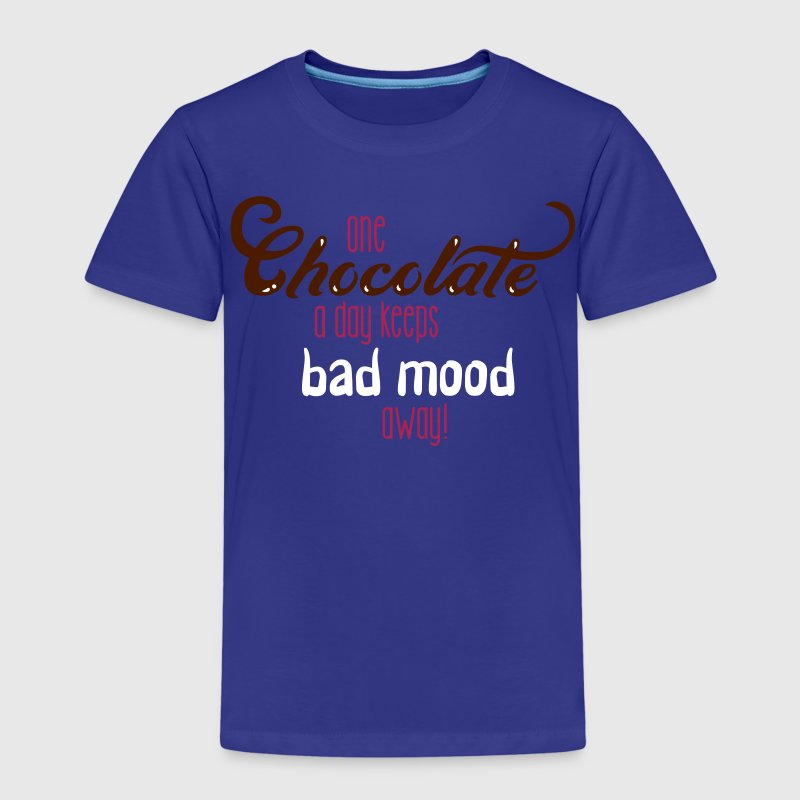 One chocolate a day keeps bad mood away - 3C - Kids' Premium T-Shirt