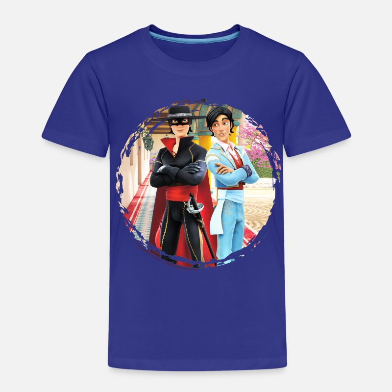 Zorro T-Shirts - Zorro The Chronicles Don Diego Double Life - Kids' Premium T-Shirt royal blue
