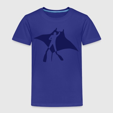 manta ray rochen taucher tauchen scuba diving dive - Kinder Premium T-Shirt