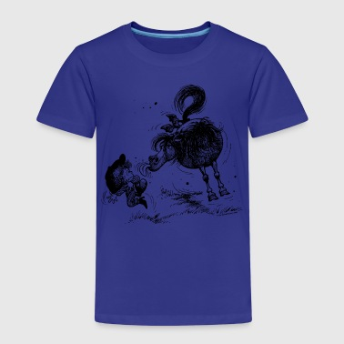 Thelwell 'Pony sticks out his tounge. - Kids' Premium T-Shirt