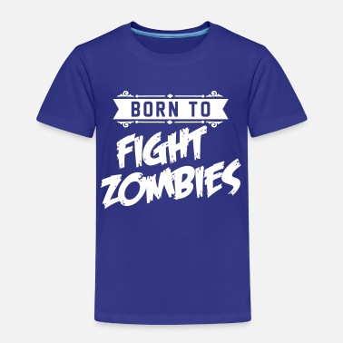 The Walking Dead Born to fight Zombies - Halloween - baby Kostüm - Koszulka dziecięca Premium