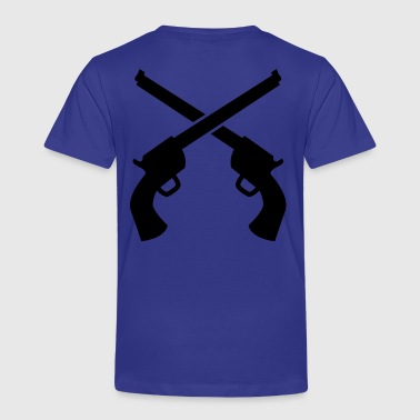 gunslinger guns crossed plain - Kids' Premium T-Shirt