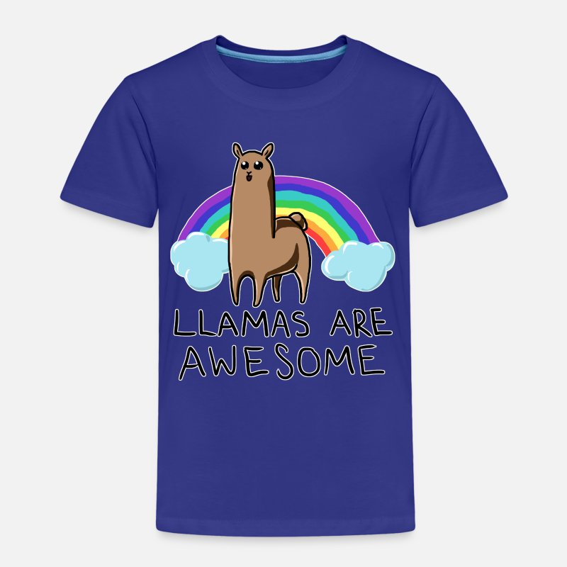 Awesome T-Shirts - Llamas are awesome - Kids' Premium T-Shirt royal blue