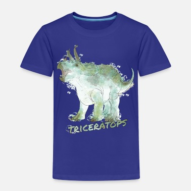 Dino Animal Planet Dinosaurs Triceratops Watercolour - Kids' Premium T-Shirt