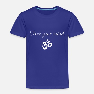 free your mind om blanc - T-shirt premium Enfant