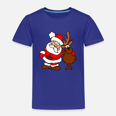 Santa Claus and his friend - Kids' Premium T-Shirt