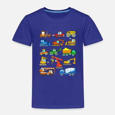 Vehicle Excavator vehicles construction site - Kids' Premium T-Shirt