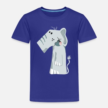 Mammoth Number One Elephant - Birthday - 1 - Gift - Kids' Premium T-Shirt