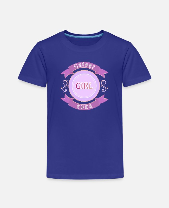Cutest Girl T-Shirts - Cutest girl in the world - Kids' Premium T-Shirt royal blue