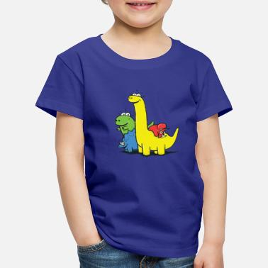 Dino Gang, Colored - Kids' Premium T-Shirt
